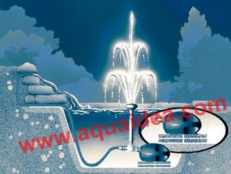 Pompa effetto fontana con getti acqua for Pompe per laghetti da giardino