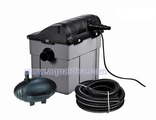 Filtro esterno a cassetta con pompa raccordi e lampada for Pompa filtro per laghetto tartarughe