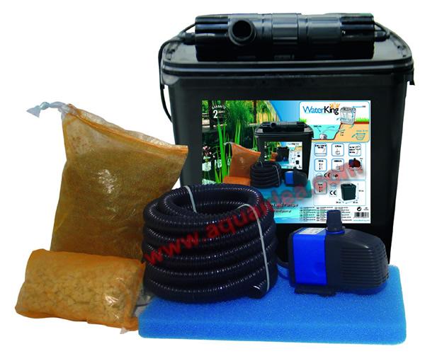 Kit laghetto filtro esterno pompa uvc e raccordi for Pompa e filtro per laghetto