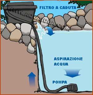 Pompa professionale laghetti basso consumo portata 7500 for Vasca laghetto rettangolare