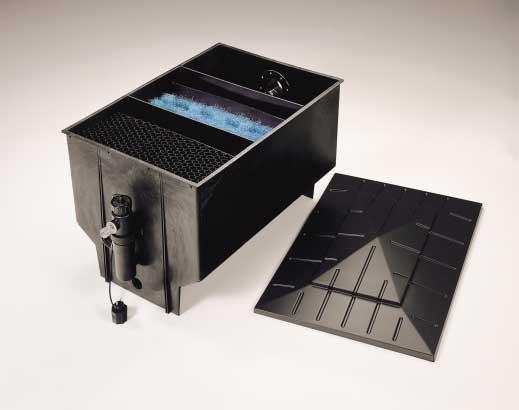 Filtro a 3 camere nero 330 l filtro esterno for Filtro per laghetto esterno