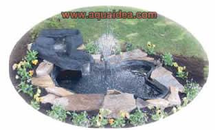 Laghetto da giardino in kit da 680 litri for Kit laghetto da giardino