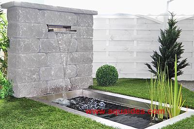 Vasca laghetto da giardino rettangolare preformata for Foto giardini moderni