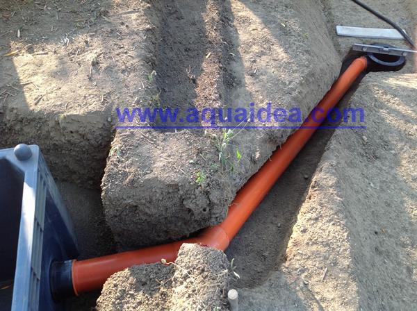 Giunto passante per collegamento dreno a vasca laterale for Vasca pvc laghetto