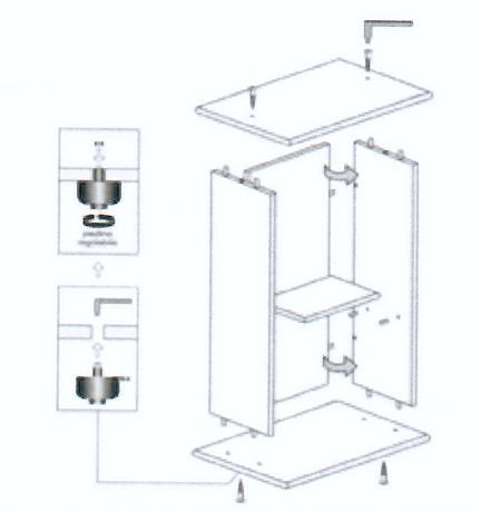Mira stand tavolo supporto per acquario mirabello 30 - Acquario mobile ...