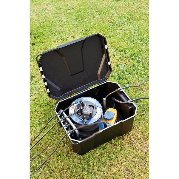 Pozzetto per collegamenti elettrici a tenuta stagna ip 65 for Pompe e filtri per laghetti da giardino