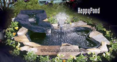 Laghetto da giardino in kit da 680 litri for Vasca pvc laghetto