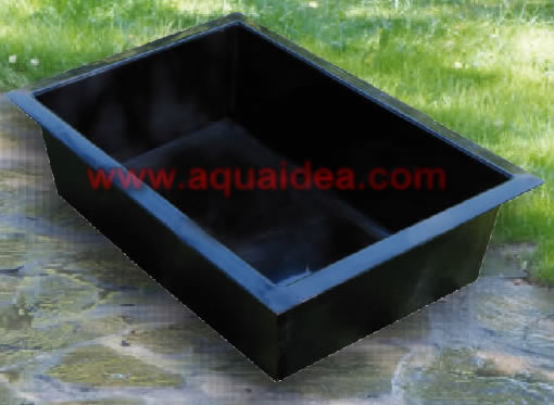 Vasca laghetto da giardino rettangolare preformata for Vasche da interrare per tartarughe