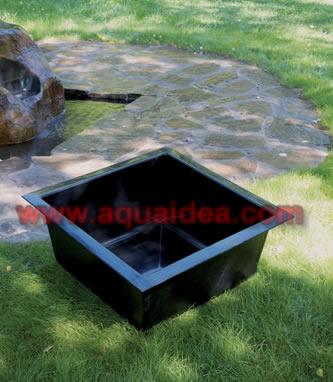 Vasca Da Giardino In Pvc.Vasca Fontana Da Giardino Quadrata